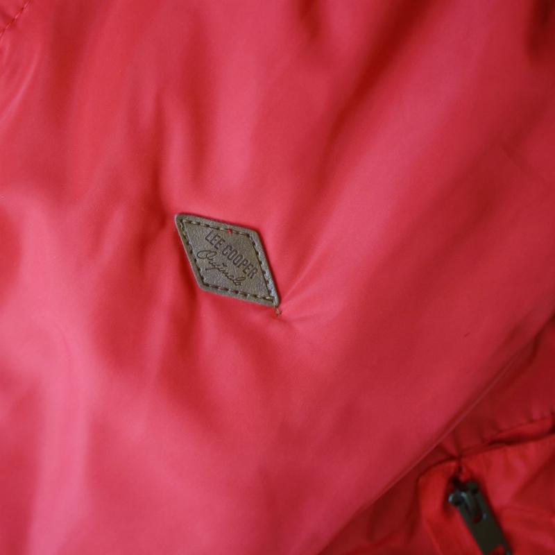 Lee Cooper Bomber Jacket Ladies Red