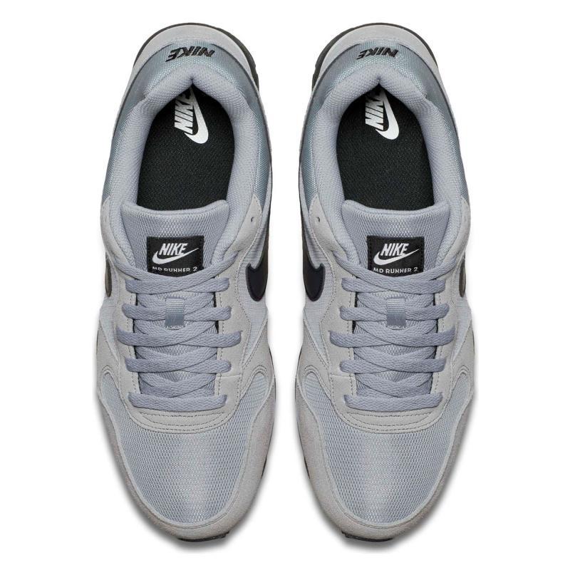 8e6083d9c48 Nike MD Runner Textile Mens Grey Black