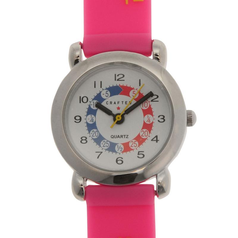 Crafted Essentials Alphabet Watch Girls Pink