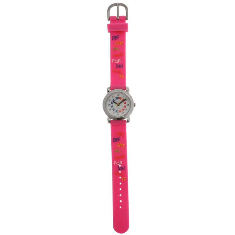 Crafted Essentials Alphabet Watch Girls Pink