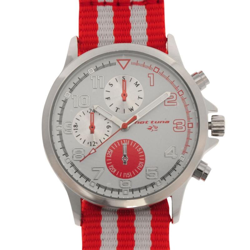 Hot Tuna Stripe Watch Mens Red