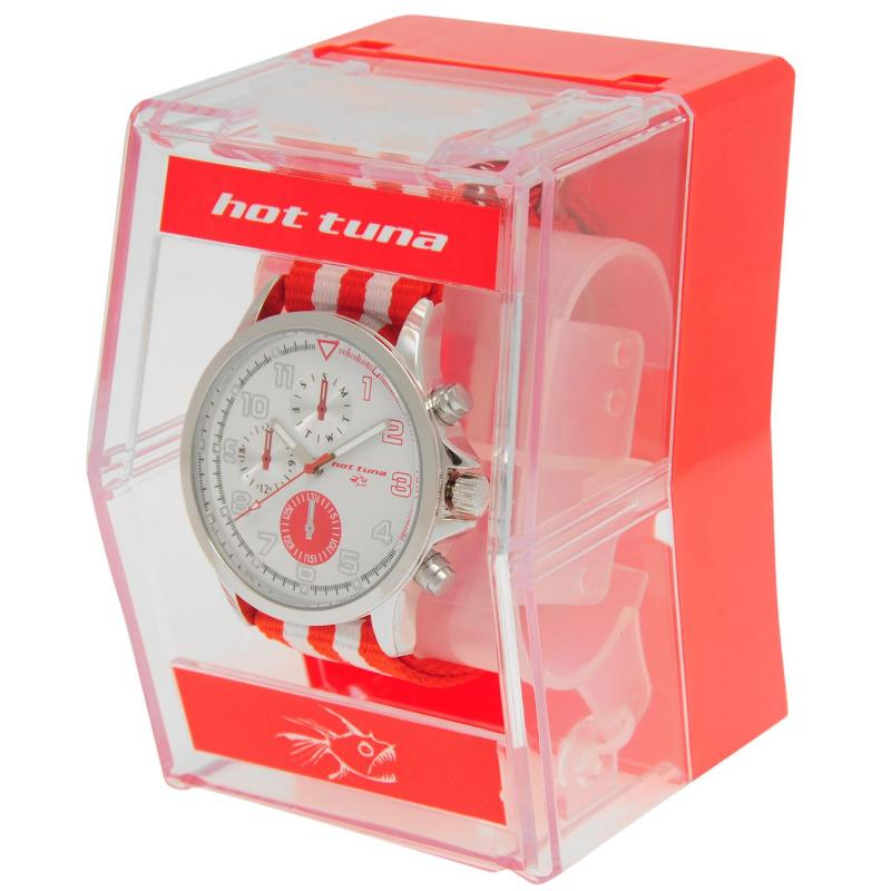Hot Tuna Stripe Watch Mens Red