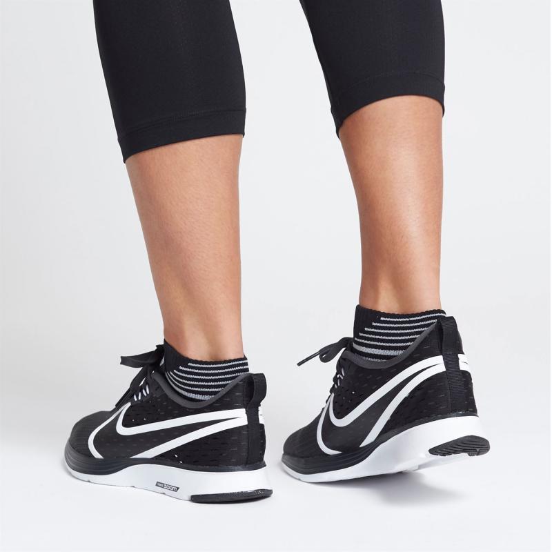 Nike Zoom Strike 2 Ladies Running Shoes Black/White