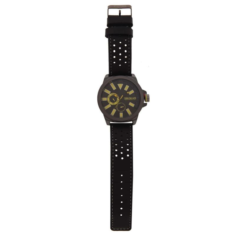 SoulCal Colour Block Watch Mens Black/Yellow