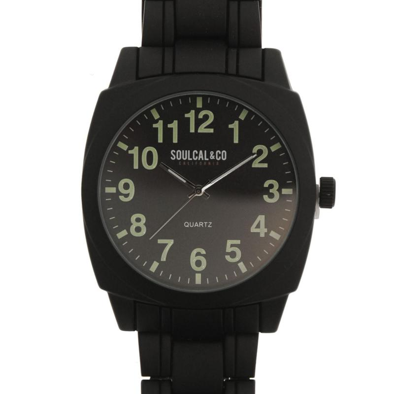 SoulCal Matte Steel Watch Mens Black