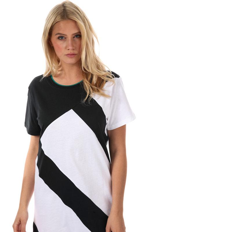 Šaty Adidas Originals Womens EQT Tee Dress Black-White ad36a7e626