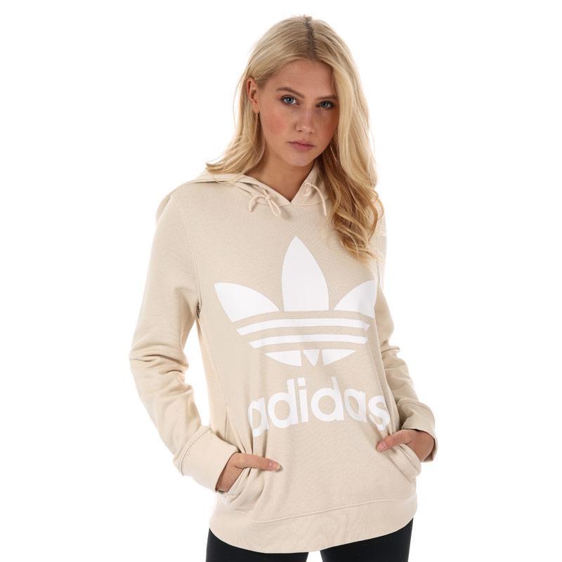 Mikina s kapucí Adidas Originals Womens Trefoil Hoody Natural