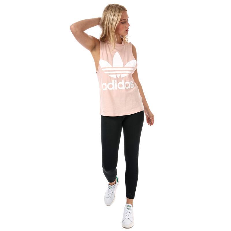 Adidas Originals Womens Trefoil Tank Top Dusky Pink