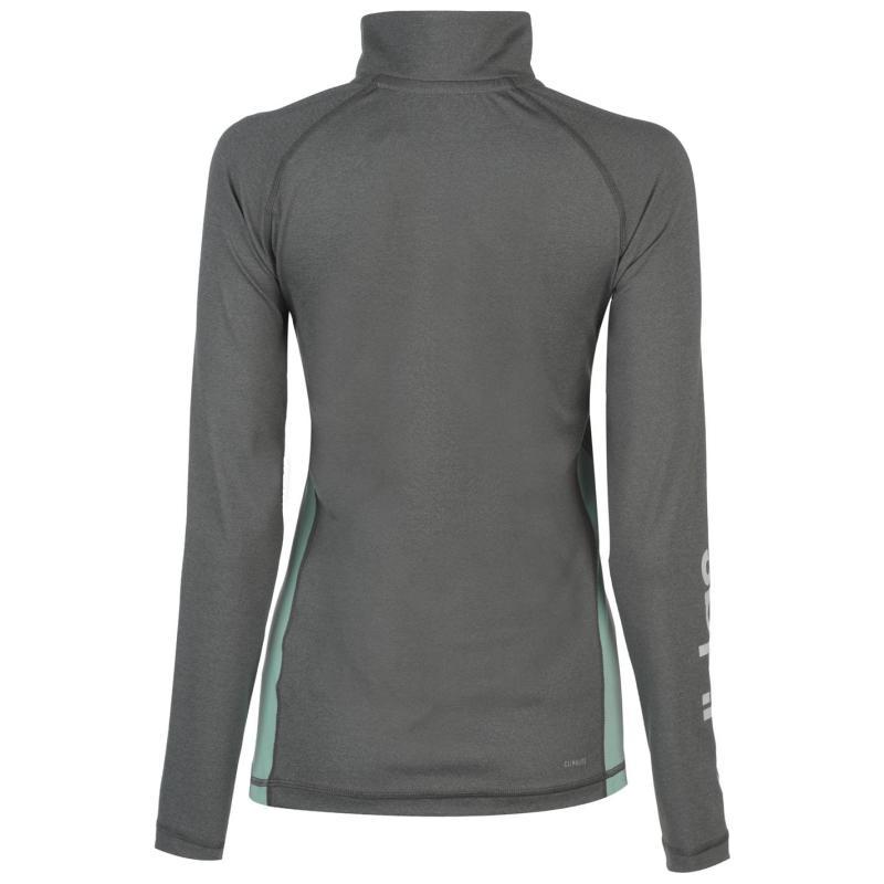 Adidas Linear quarter Zip Jacket Ladies Grey/Mint