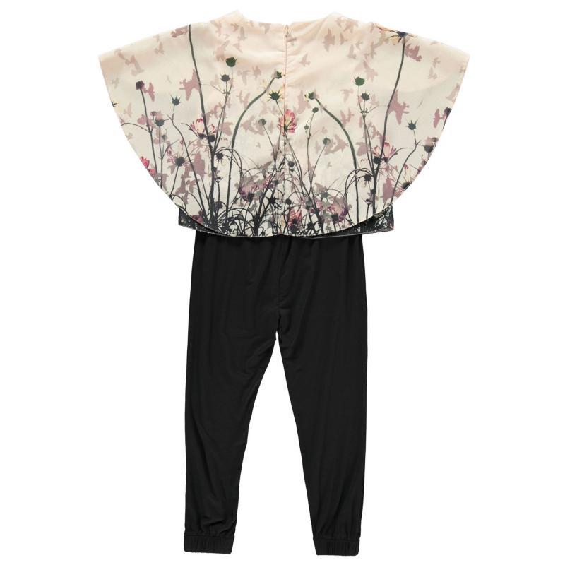 Šaty Firetrap Floral Jumpsuit Infant Girls Black Floral