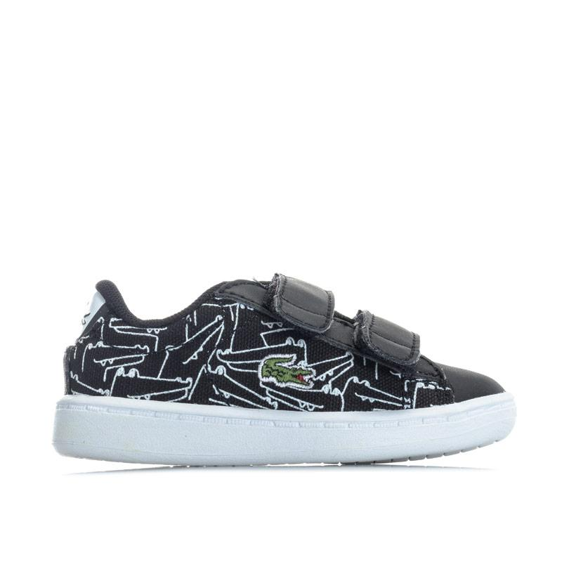 Boty Lacoste Infant Boys Carnaby Evo Trainers Black-White