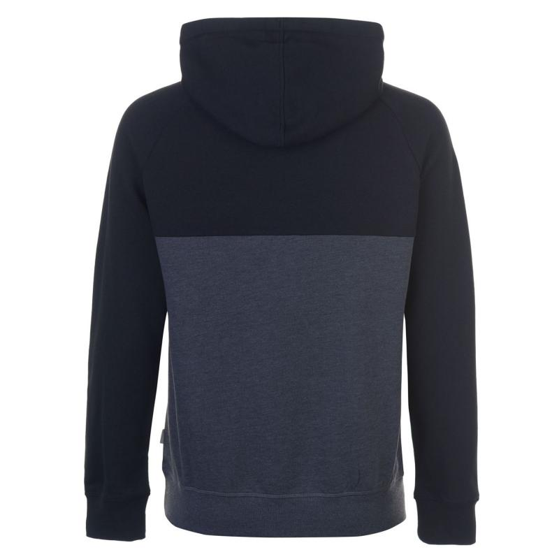 Mikina Lee Cooper Cut and Sew OTH Hoody Mens Charcoal/Blk