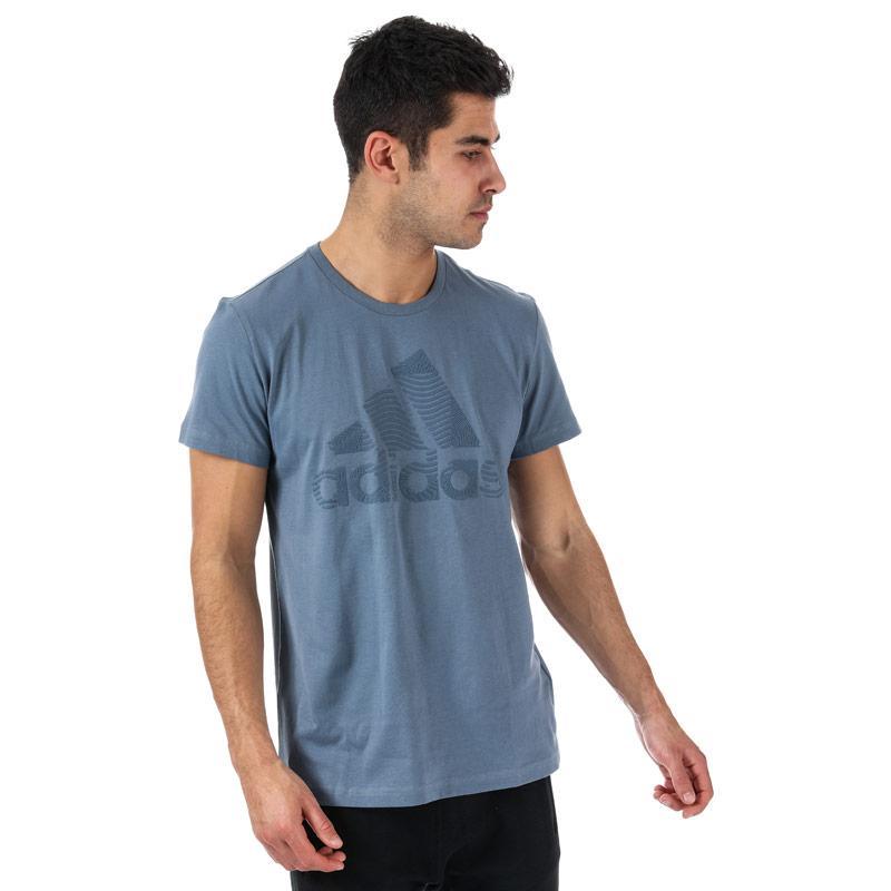Tričko Adidas Mens ID Badge Of Sport T-Shirt Blue