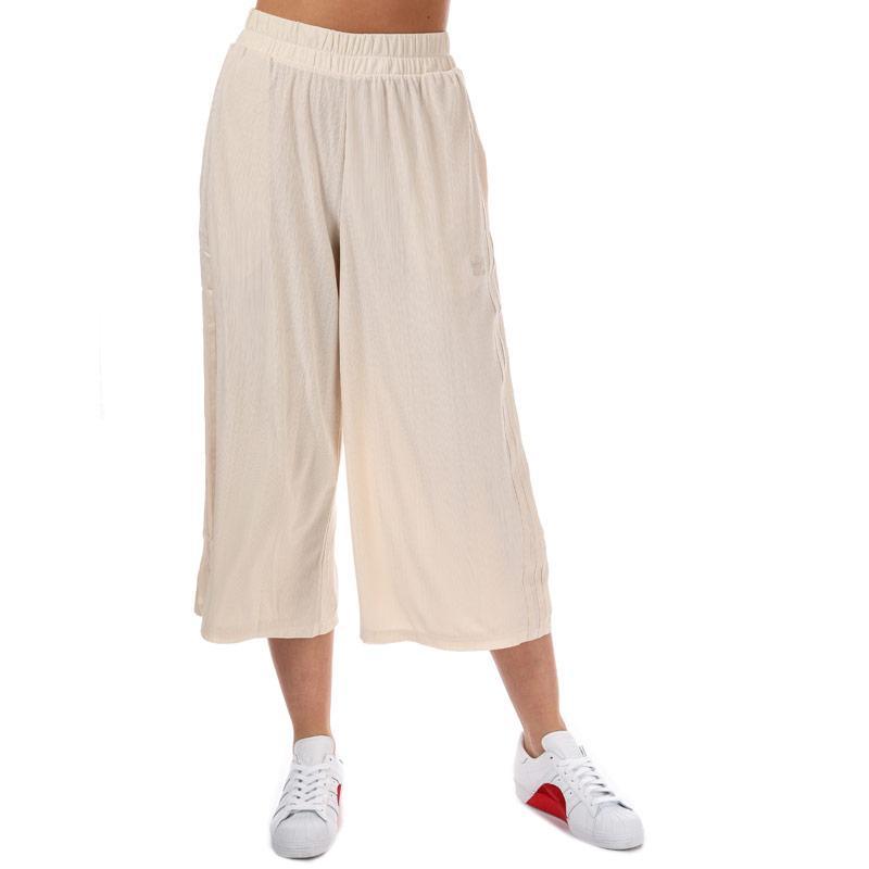 Kalhoty Adidas Originals Womens Styling Complements Ribbed Pants Natural