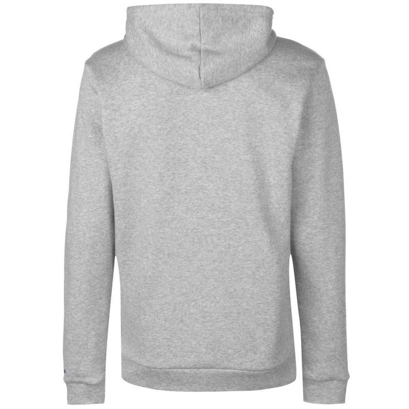 Mikina adidas Linear Logo Full Zip Hoody Mens Black White f8cb26138d7