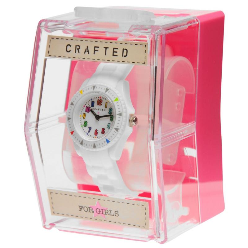 Crafted Essentials Multi Colour Watch Girls White