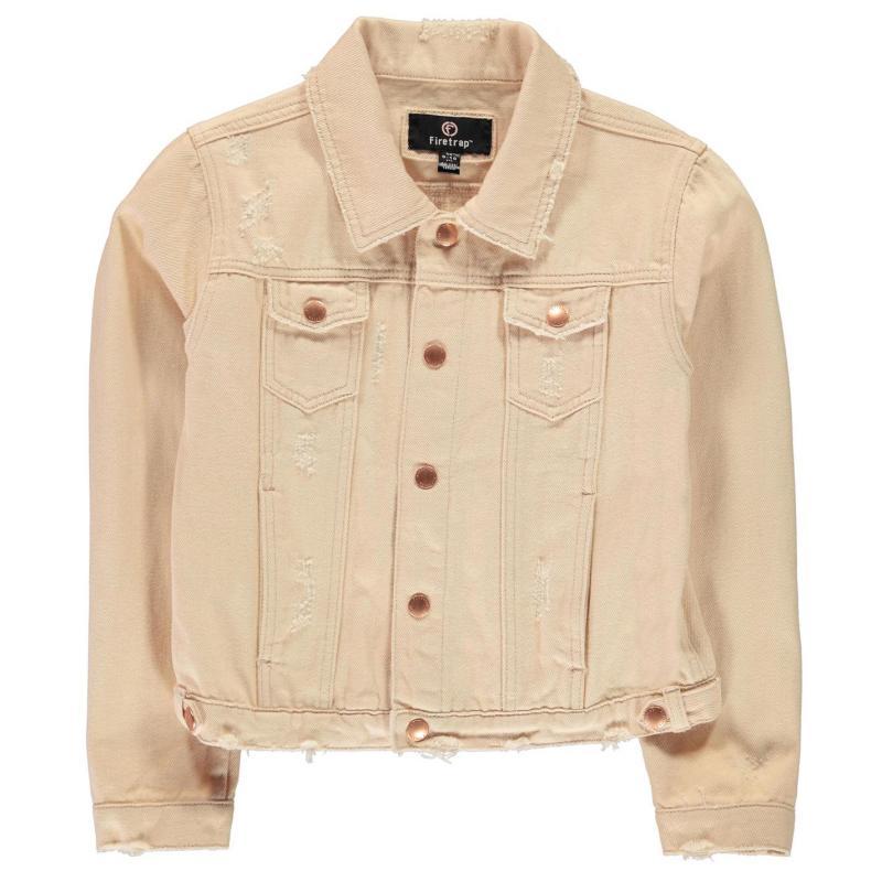 Firetrap Denim Jacket Junior Girls Blush Denim