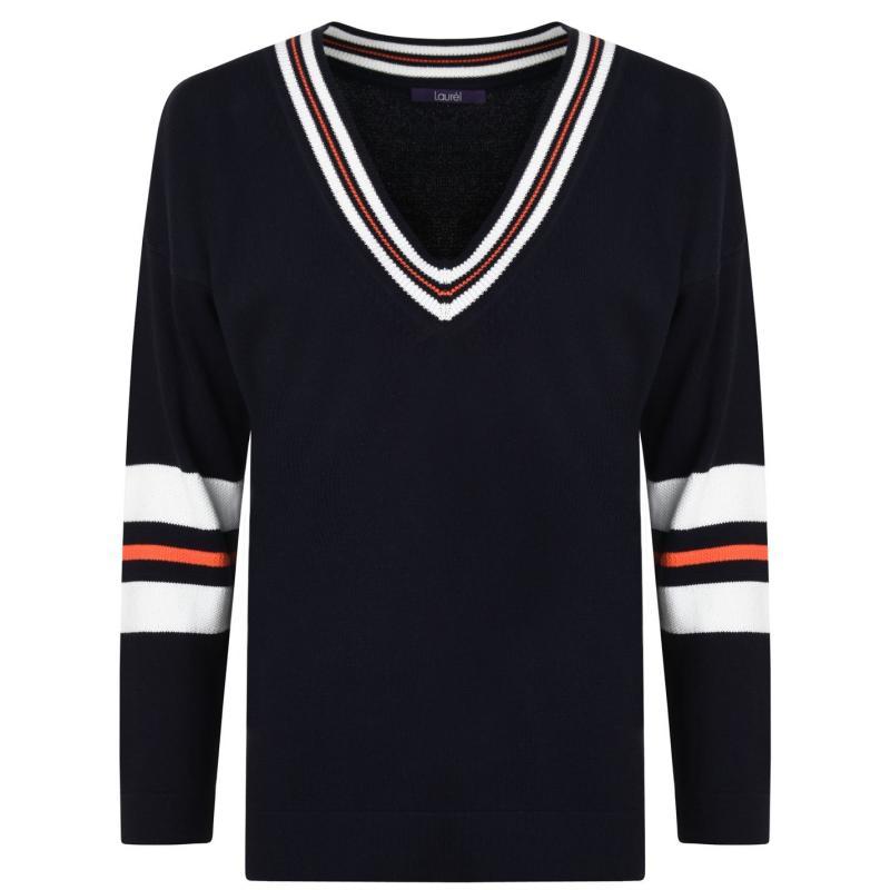 Mikina Laurel Knit Sweatshirt Navy