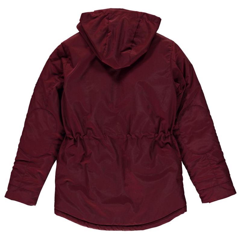 SoulCal Padded Parka Jacket Infant Girls Burgundy