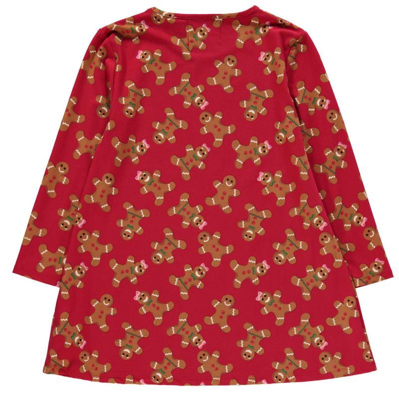 Šaty Star Christmas Jersey Dress Junior Girls G/Bread AOP