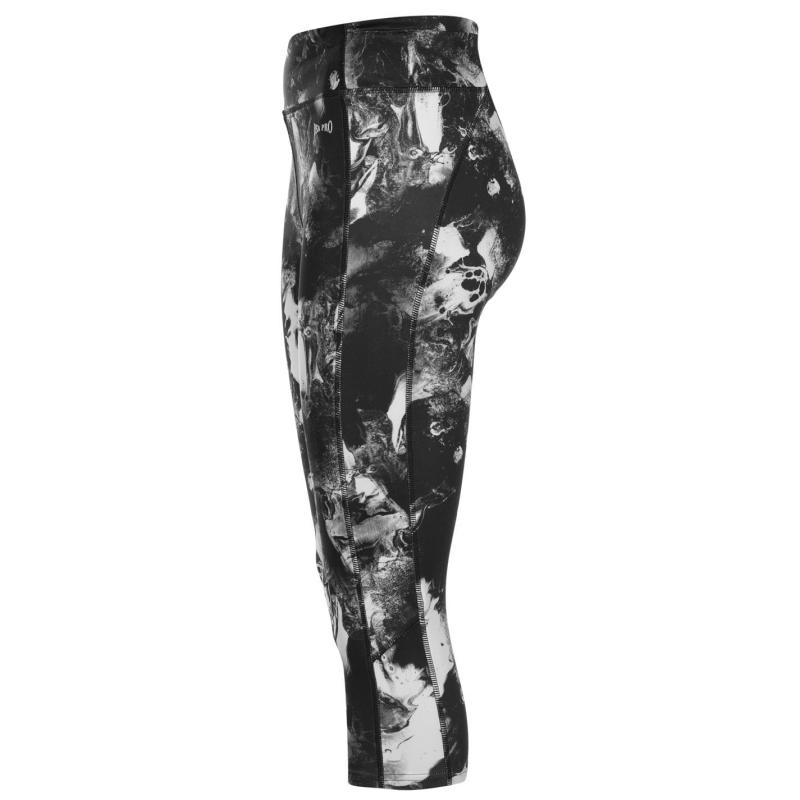 USA Pro Three Quarter Leggings Ladies Aztec Floral