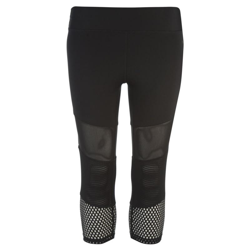 USA Pro Three Quarter Leggings Ladies Black/Panels