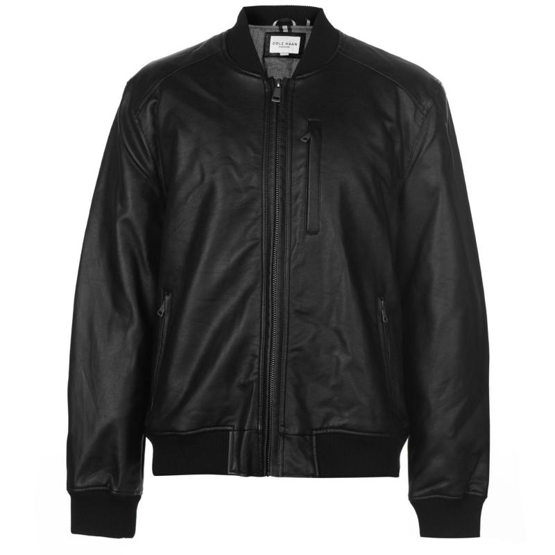 Cole Haan Bomber Jacket Mens Black
