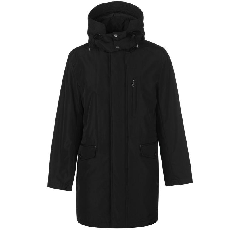 Cole Haan Nylon Parka Jacket Mens Black