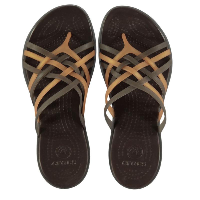 Obuv Crocs Huarache Ladies Flip-Flops Bronze/Espresso