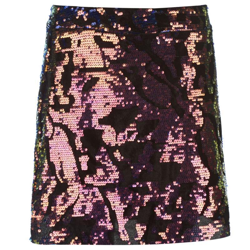 Sukně Golddigga Velvet Sequin Skirt Ladies Multi