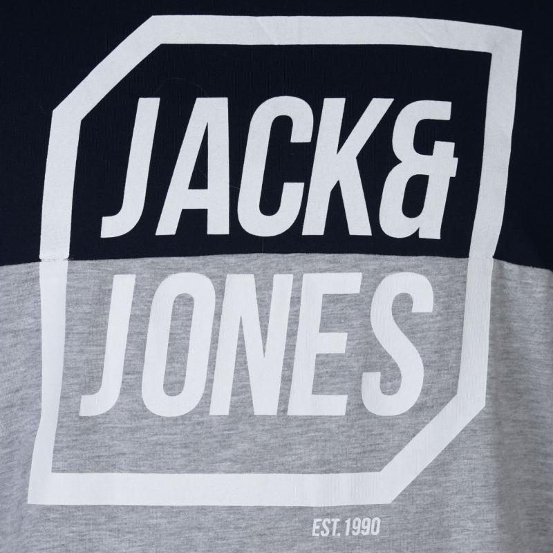 Tričko Jack and Jones Half Logo T Shirt Mens Sky Captain/LGM
