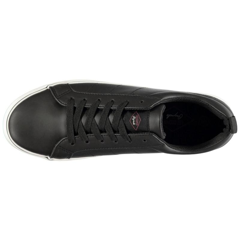 Lee Cooper Zack Low Trainers Mens Black/White