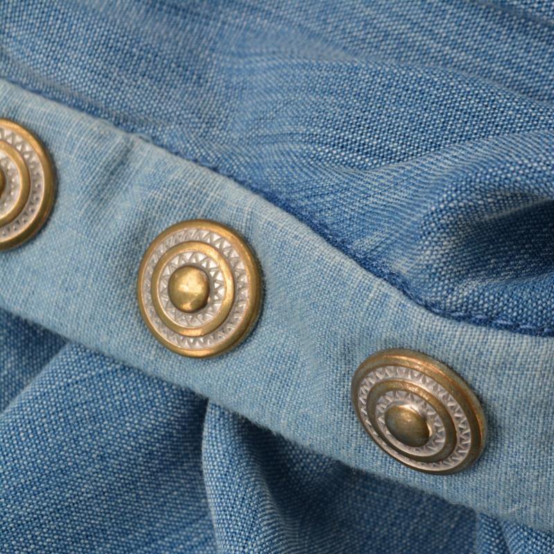 Košile Maison Scotch Tunic Shirt Indigo