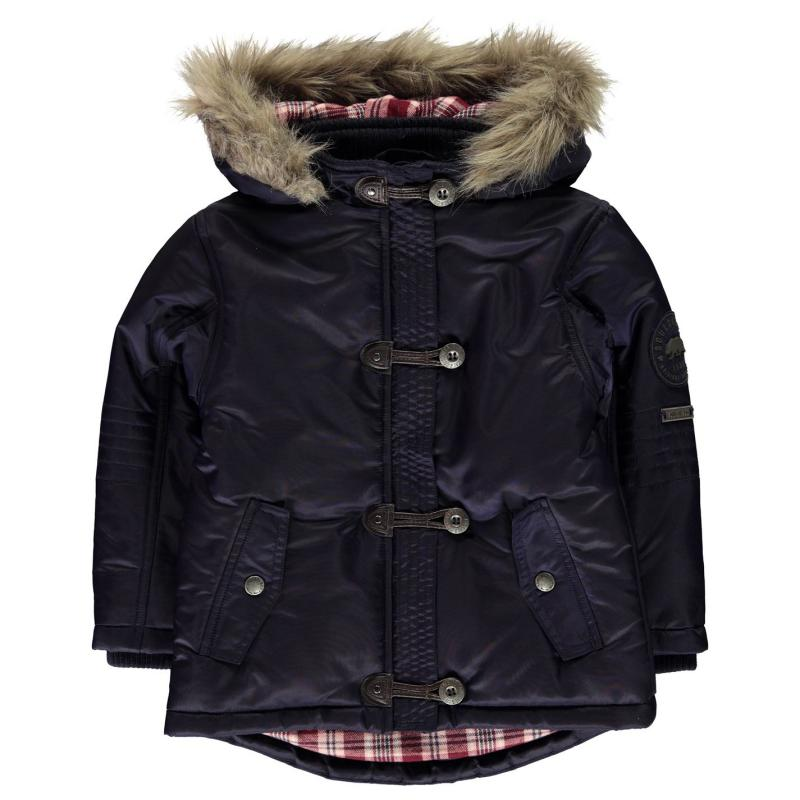 SoulCal Toggle Parka Jacket Infant Girls Navy