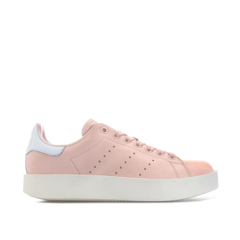 Adidas Originals Womens Stan Smith Bold Trainers Pink white