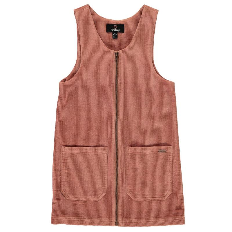 Šaty Firetrap Pinafore Junior Girls Blush Cord