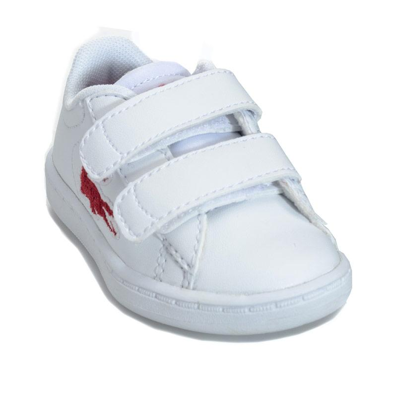 Boty Lacoste Infant Carnaby Evo Trainers White red
