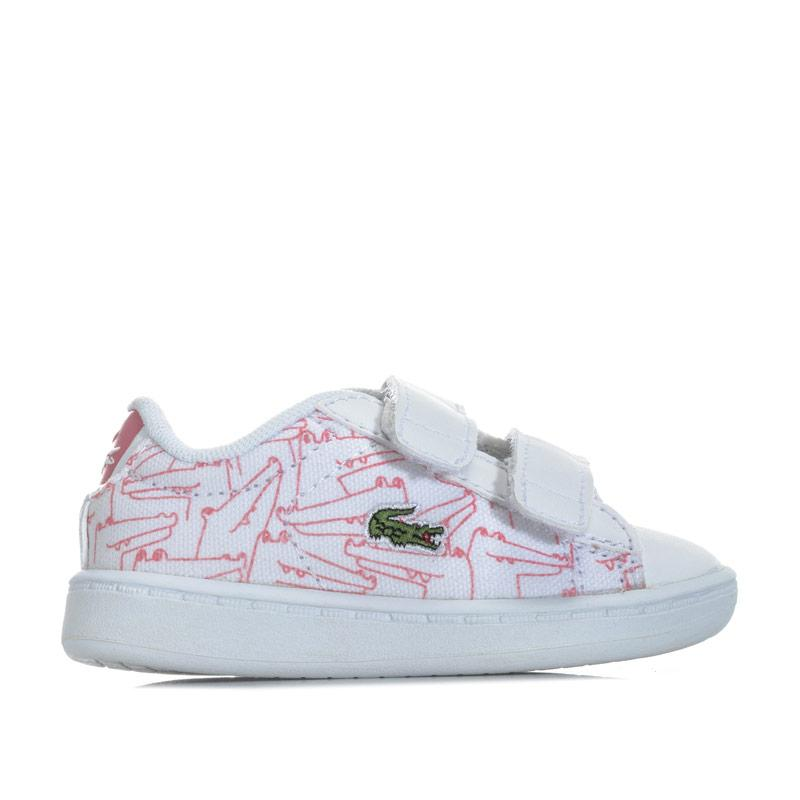 Lacoste Infant Girls Carnaby Evo Trainers White pink