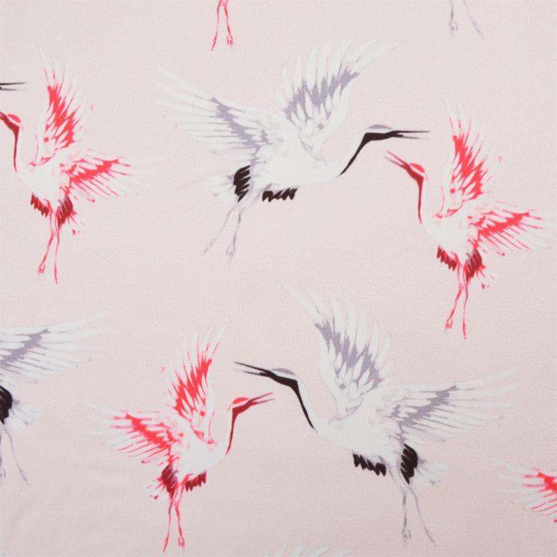 Laurel Print Top Black/Pink
