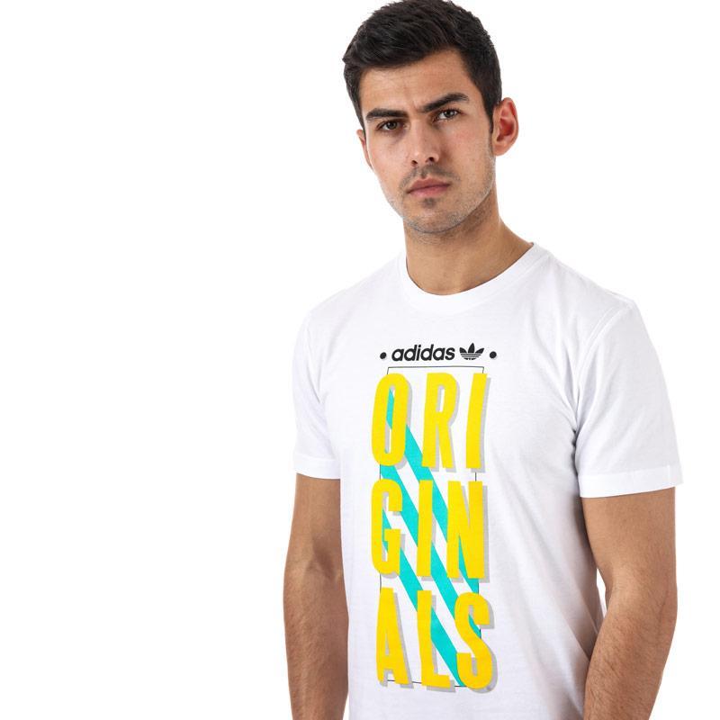 Tričko Adidas Originals Mens Graphic Slogan T-shirt White