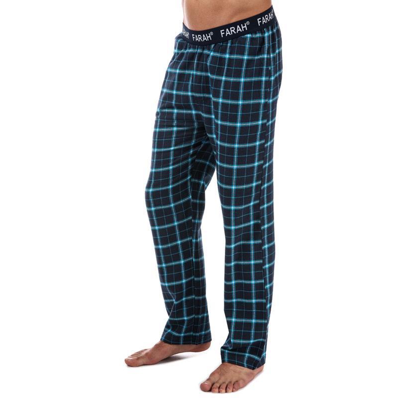 Pyžamo Farah Mens Hamer Flannel Lounge Pant Navy