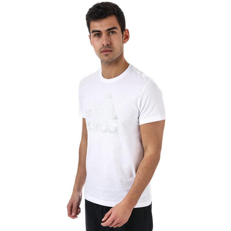 Tričko Adidas Mens ID Badge Of Sport T-Shirt White