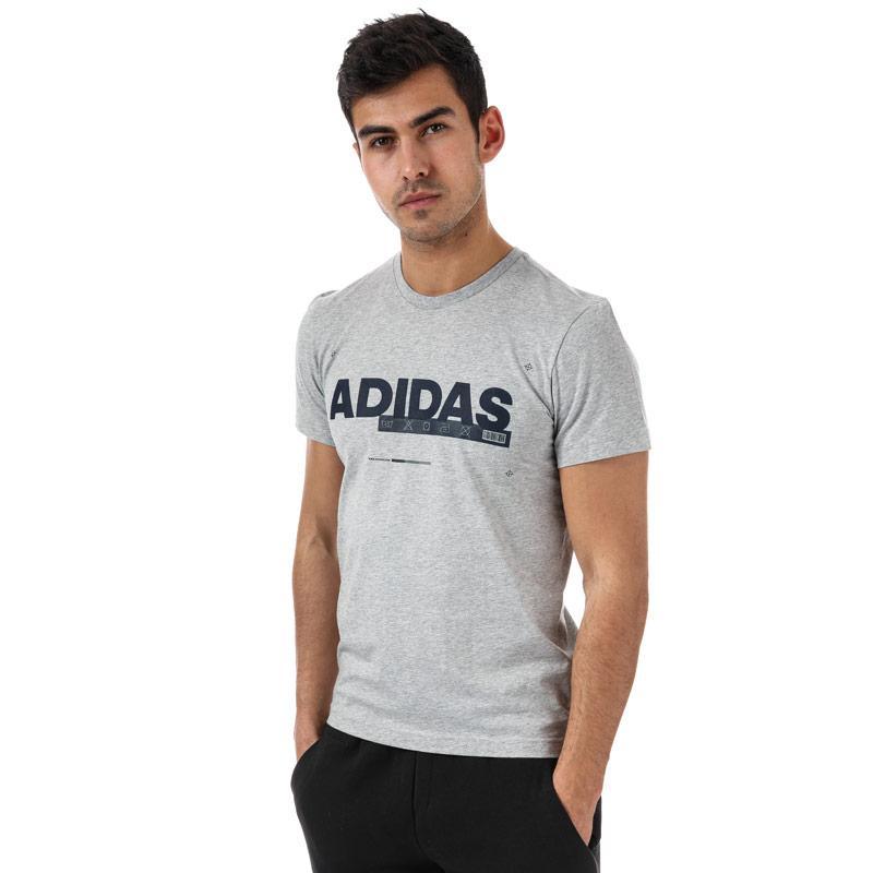 Tričko Adidas Originals Mens ID Lineage T-Shirt Grey Heather