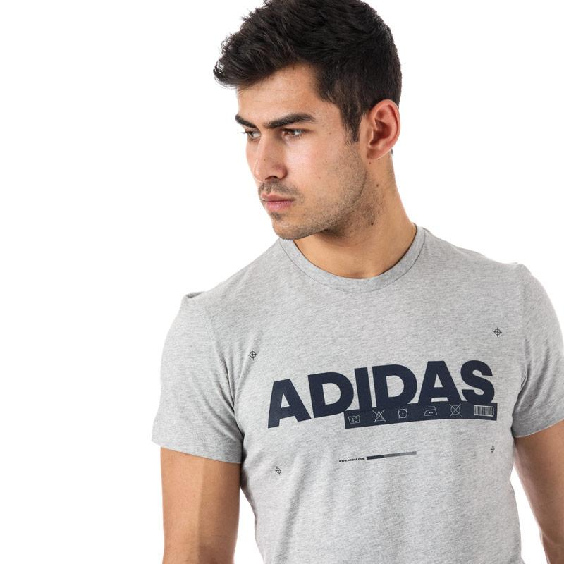 Tričko Adidas Originals Mens ID Lineage T-Shirt Grey Heather