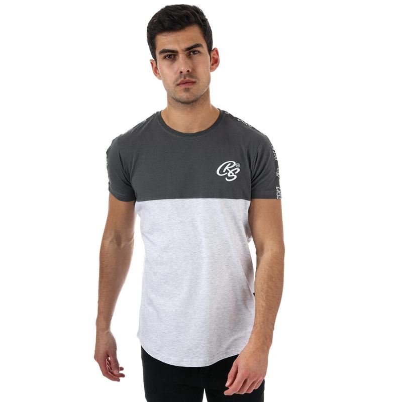 Tričko Crosshatch Mens Kammore T-Shirt Grey