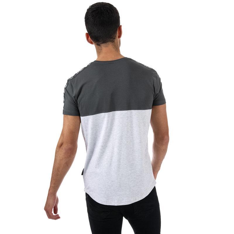 Tričko Crosshatch Black Label Mens Kammore T-Shirt Grey