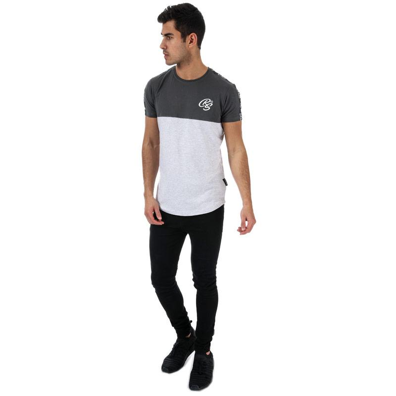 Tričko Crosshatch Black Label Mens Kammore T-Shirt Grey