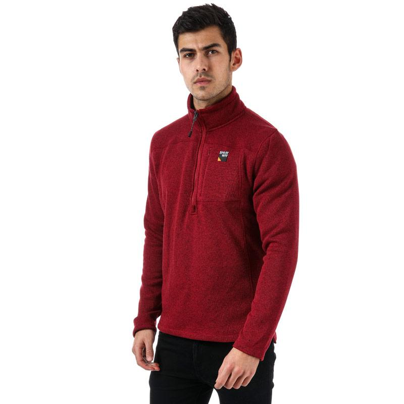 Mikina Sprayway Mens Minos 1/2 Zip Fleece Red