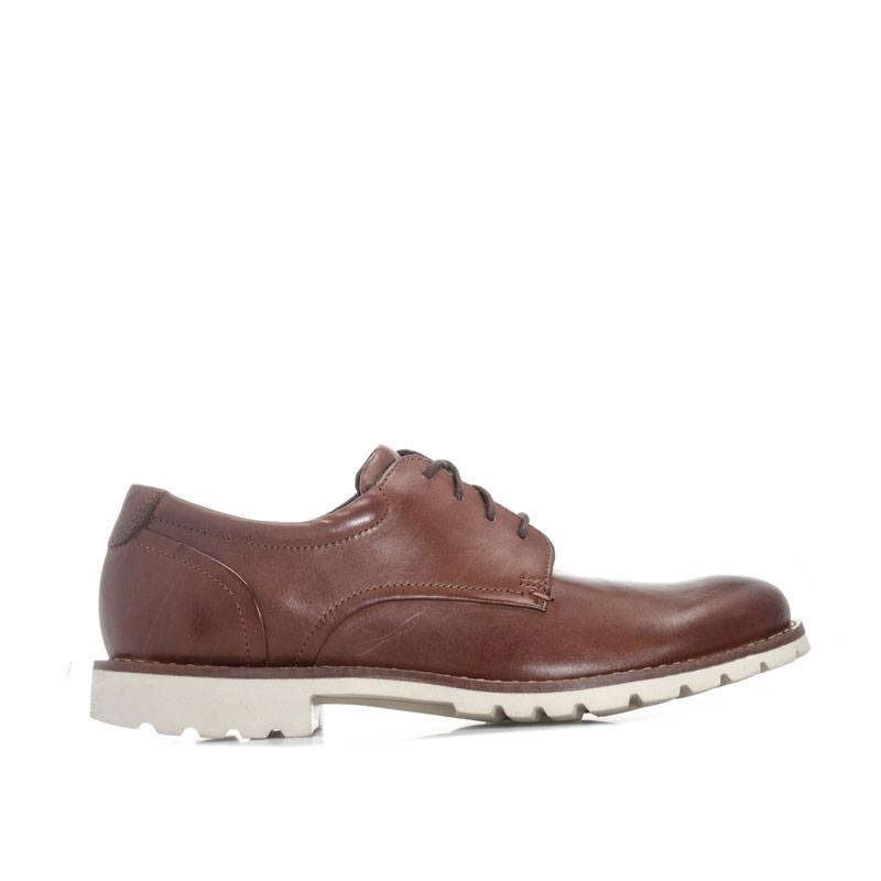 Boty Rockport Mens Sharp & Ready Plain Toe Shoe Brown