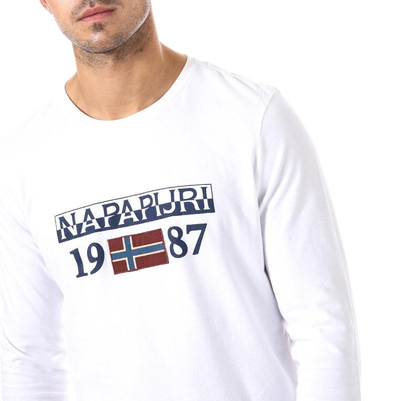 Tričko Napapijri Mens Solin T-Shirt White